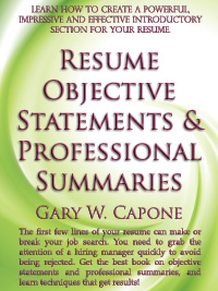 Resume Objective Statement Book